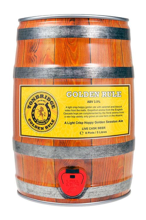 8 Pint Mini-Cask of Golden Rule (3.5%) by Tonbridge Brewery