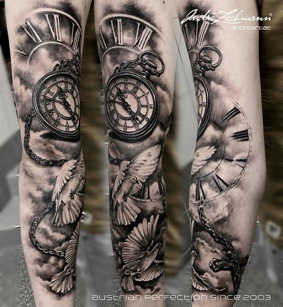Watch Cross Pigeons_tattoo_by_andre_zech