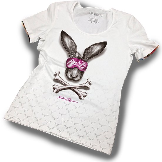 TATTOOSHIRT SKI BUNNY S/S LADIES