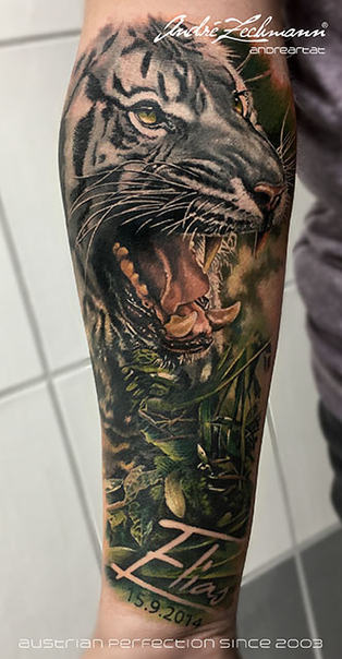 Tiger White Forearm_tattoo_by_andre_zech