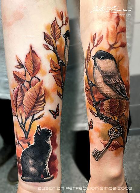 Vogel Schlussel_tattoo_by_andre_zechmann