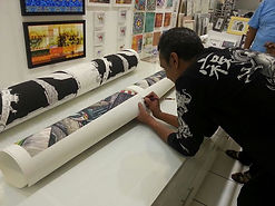 Signing my first ever limited edition pr