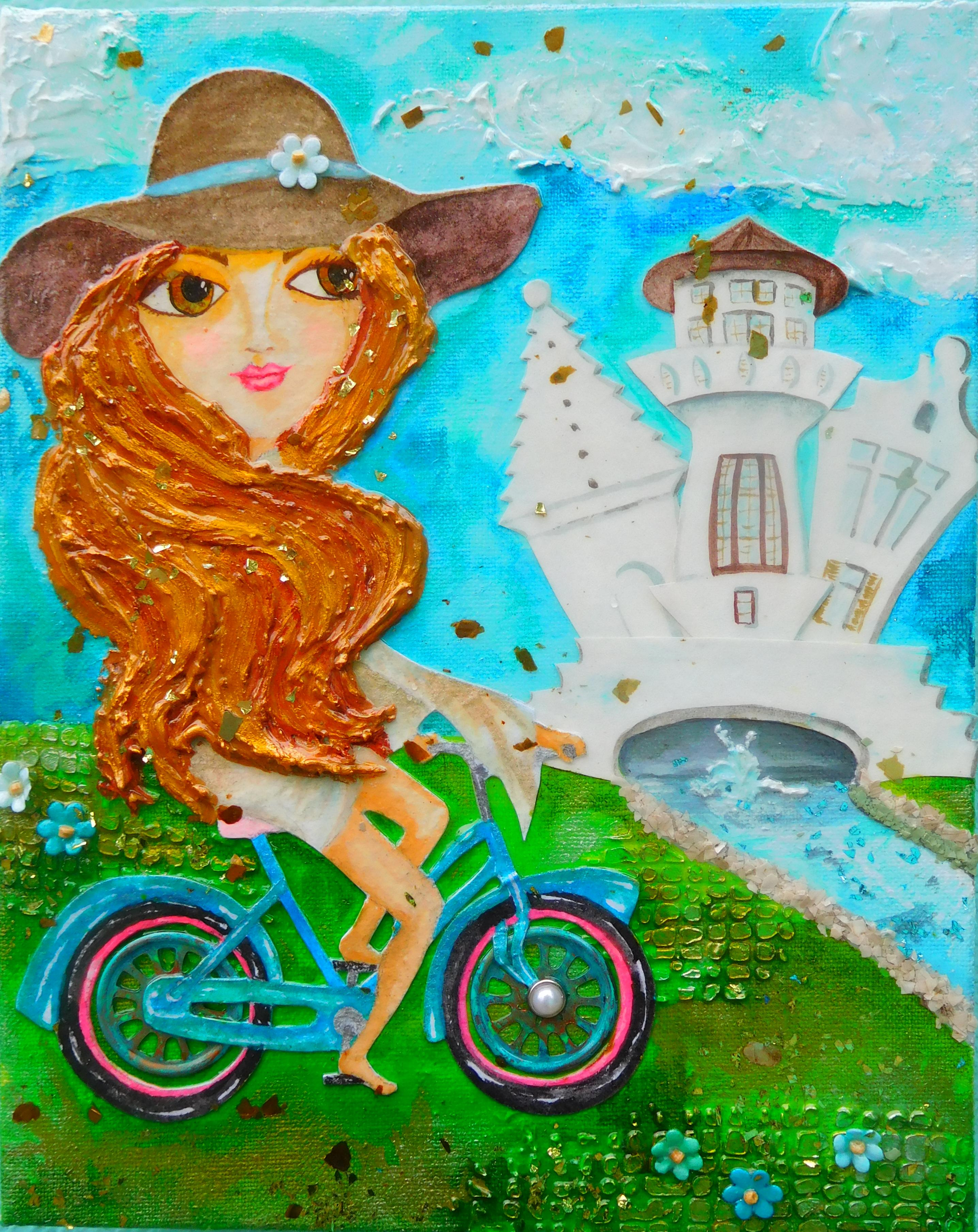 Biking Alys Beach, 8X10 $120