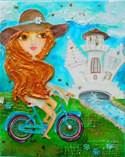Biking Alys Beach, 8X10 $120