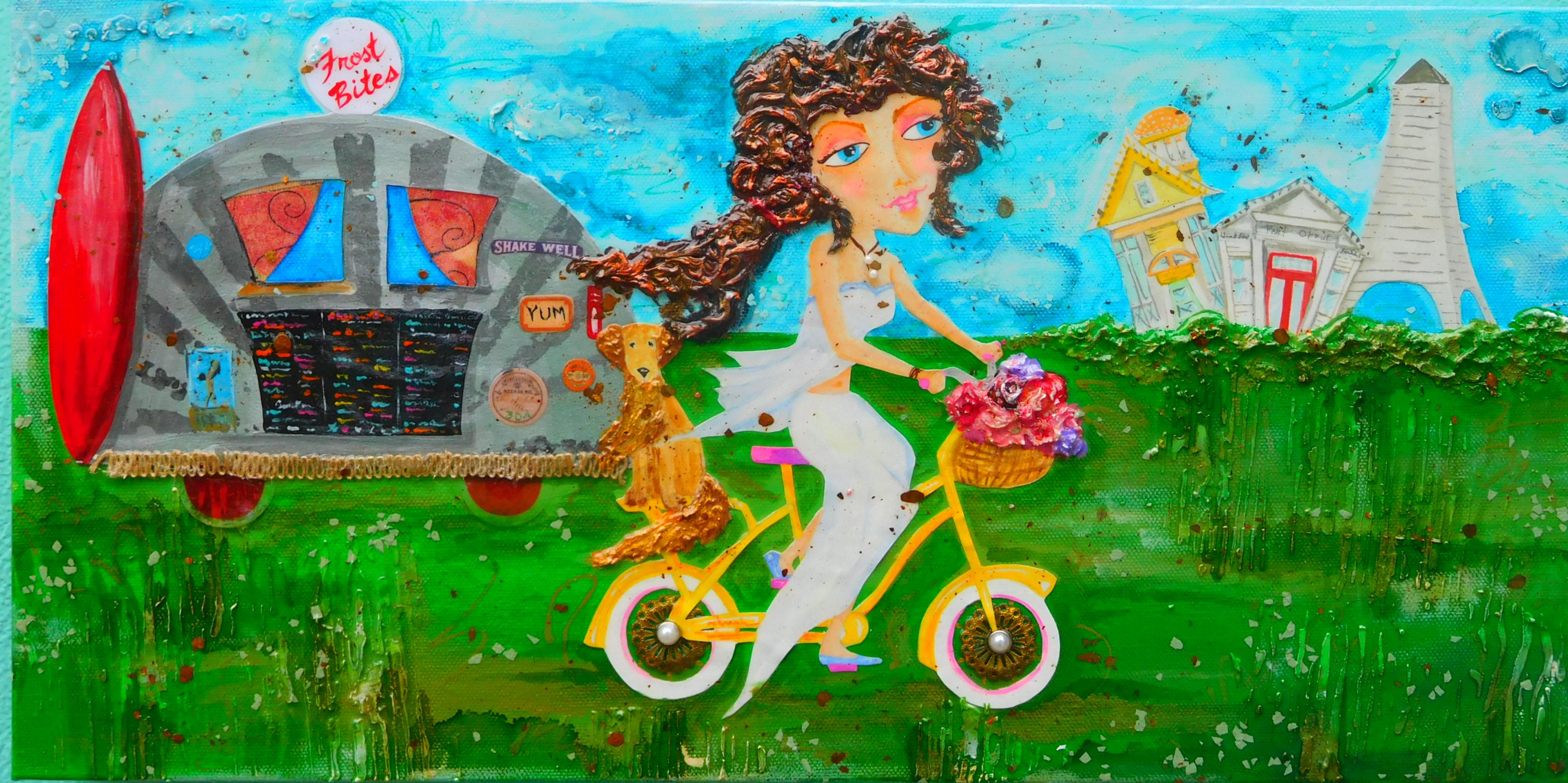 Biking Seaside  10X20 $225