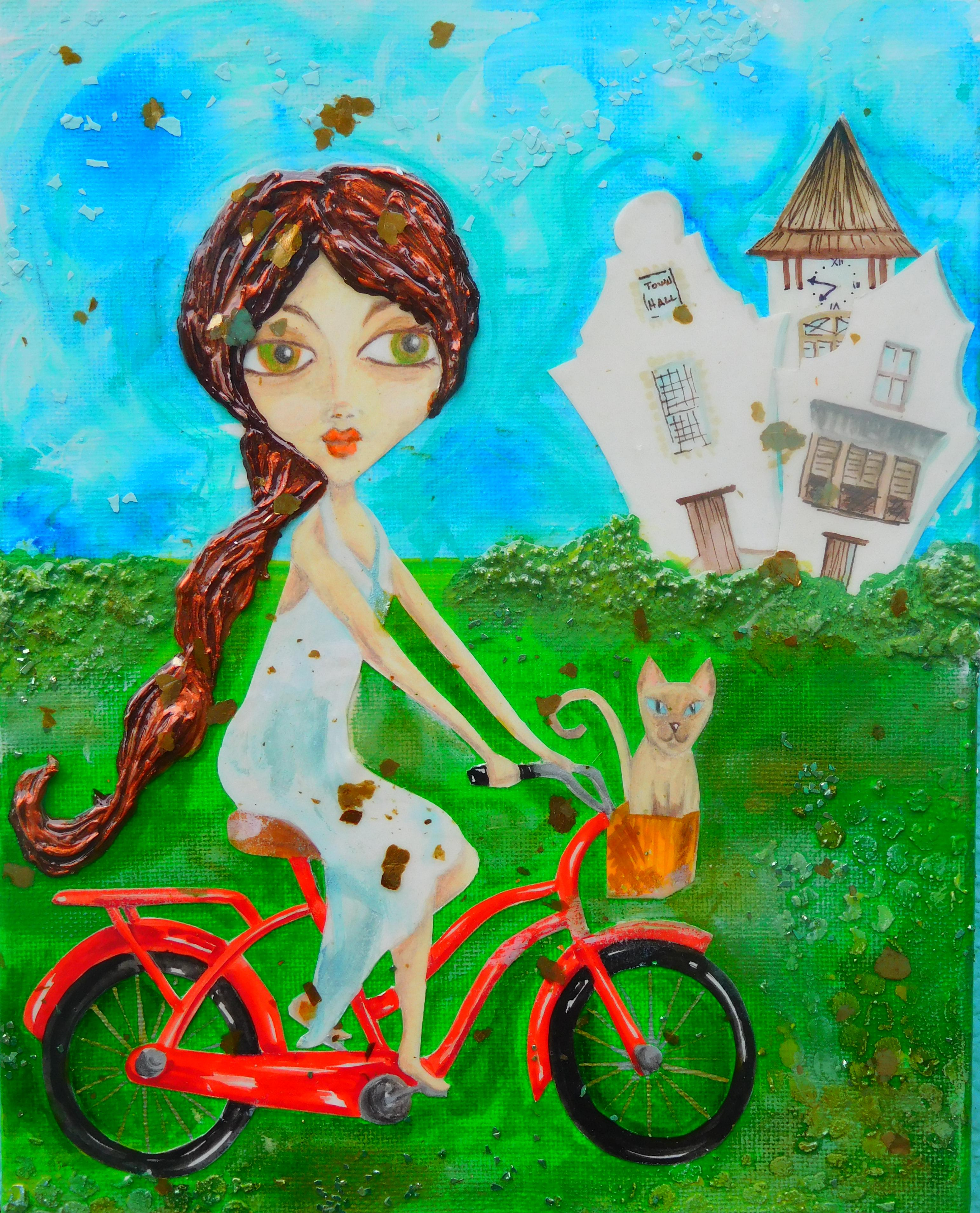 Biking Rosemary, SOLD