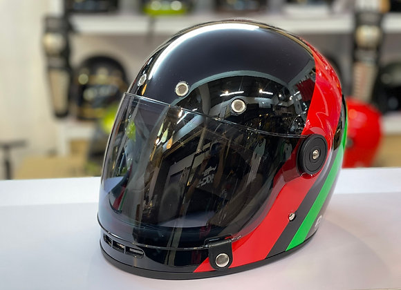 VRM 1976 MILANO CLASSIC PAINTED Gloss Black Double-Stripe Red and Green