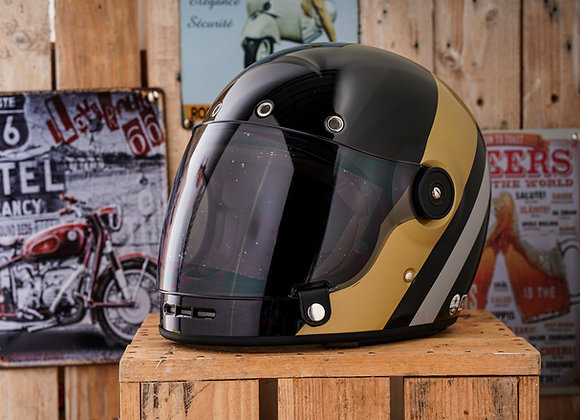 VRM 1976 MILANO CLASSIC PAINTED Gloss Black Double-stripe Gold Silver