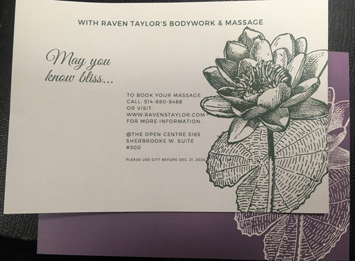 How Do You Give The Gift of Massage? Gift Certificates!