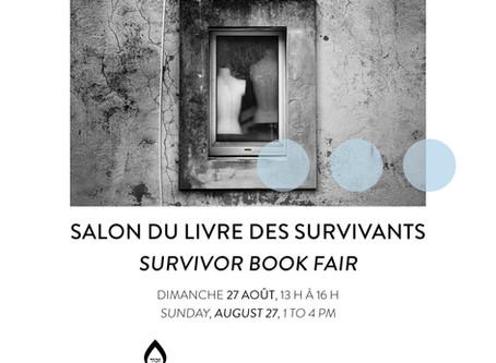 Survivor Book Fair: Sunday August 27