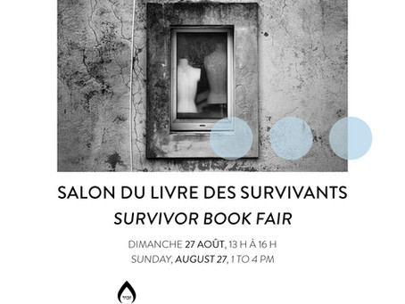 Survivor Book Fair: Sunday August 27