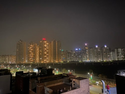 View From our Rooftop Restaurant In Noida t