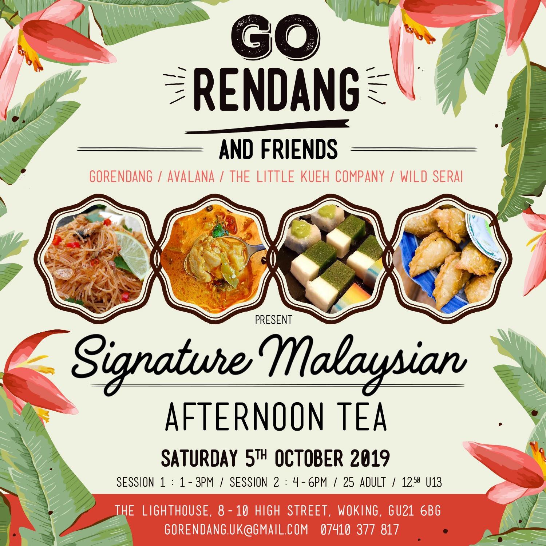 Signature Malaysian Afternoon Tea 1-3pm