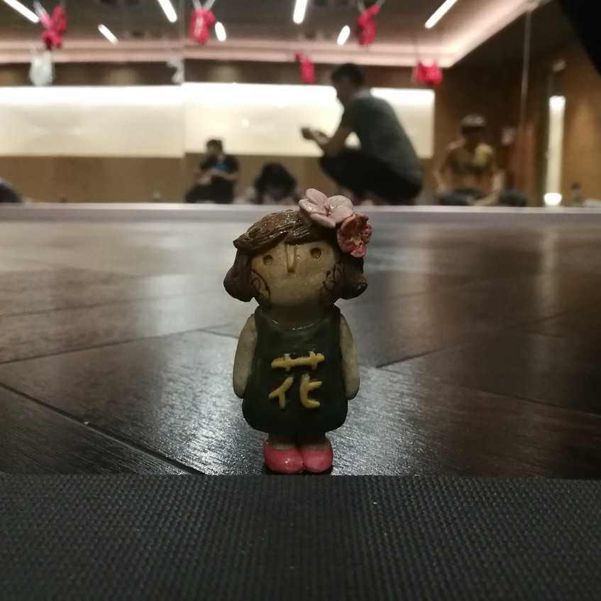 Hana chan in yoga room