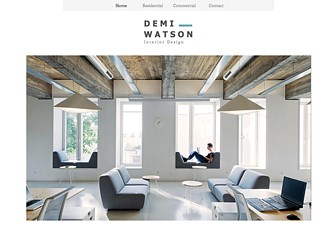 Interior Design Portfolio Website Template