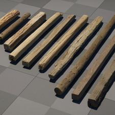 Scanned Wood Beams !