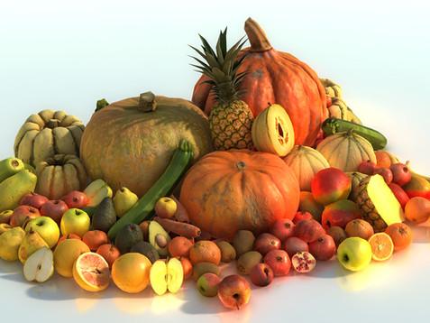 3D Scanned Fruits & Veggies !