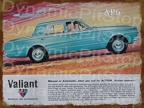 40x30cm Valiant AP6 Sedan Rustic Decal or Tin Sign