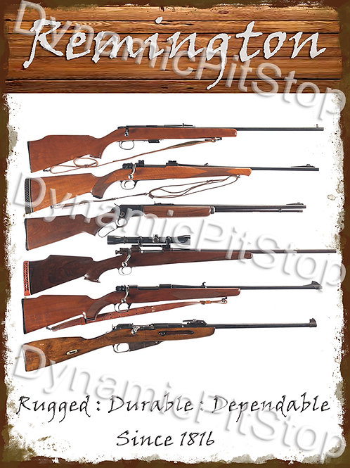 30x40cm Remington Since 1816 Rustic Decal or Tin Sign