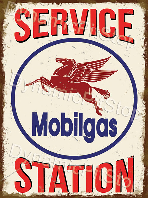 30x40cm Mobilgas Service Station Rustic Decal or Tin Sign