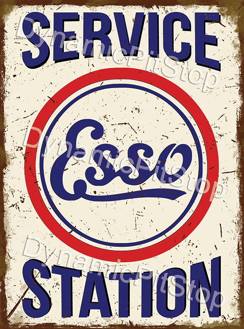 30x40cm Esso Service Station Rustic Decal or Tin Sign