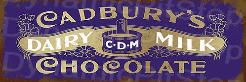 60x20cm Cadbury Chocolate Rustic Decal or Tin Sign