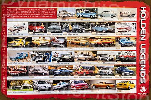 HUGE 120x80cm Holden Legends Rustic  Sign