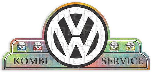 65x30cm Volkswagen Kombi Service Shield Tin Sign
