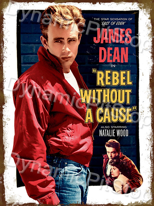 30x40cm James Dean Rustic Decal or Tin Sign