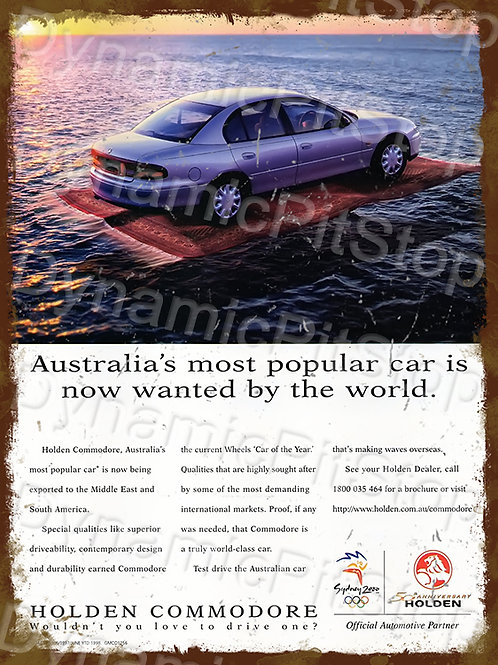 30x40cm Holden VT Commodore Rustic Decal or Tin Sign
