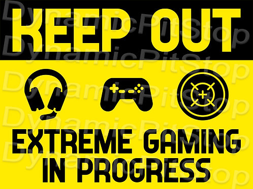 40x30cm Keep Out: Gaming Decal or Tin Sign