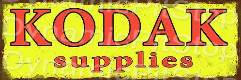 60x20cm Kodak Camera Supplies Rustic Decal or Tin Sign