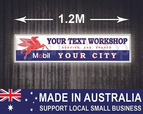 Large Illuminated Mobil Custom Workshop Sign