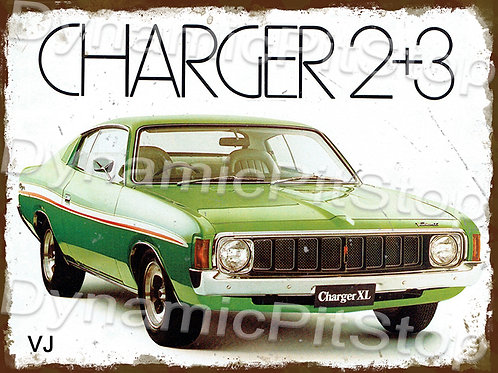 40x30cm Valiant 1973 VJ Charger Rustic Decal or Tin Sign