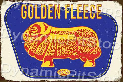 60x40cm Golden Fleece Rustic Decal or Tin Sign