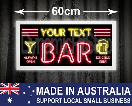 Illuminated Neon Style Custom Bar Sign