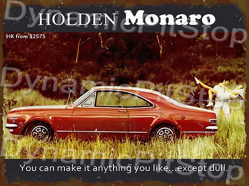 40x30cm Holden HK Monaro Rustic Decal or Tin Sign
