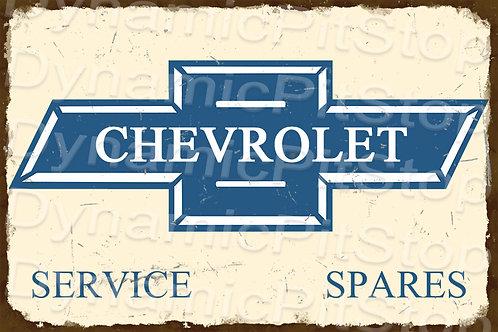 HUGE 120x80cm Chevrolet Rustic  Sign