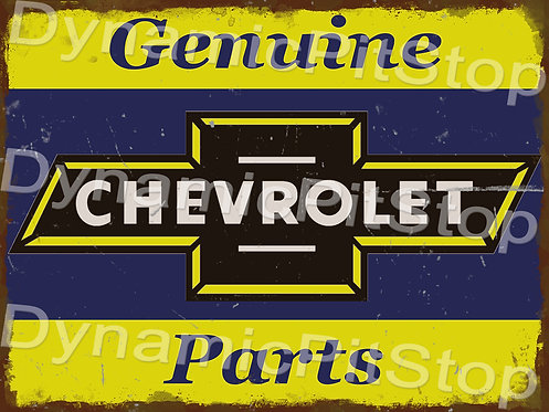 40x30cm Genuine Chevrolet Parts Rustic Decal or Tin Sign