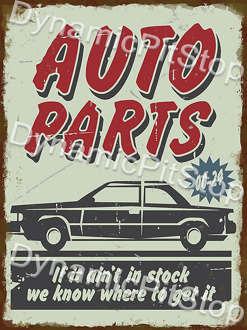 30x40cm Auto Parts Rustic Decal or Tin Sign