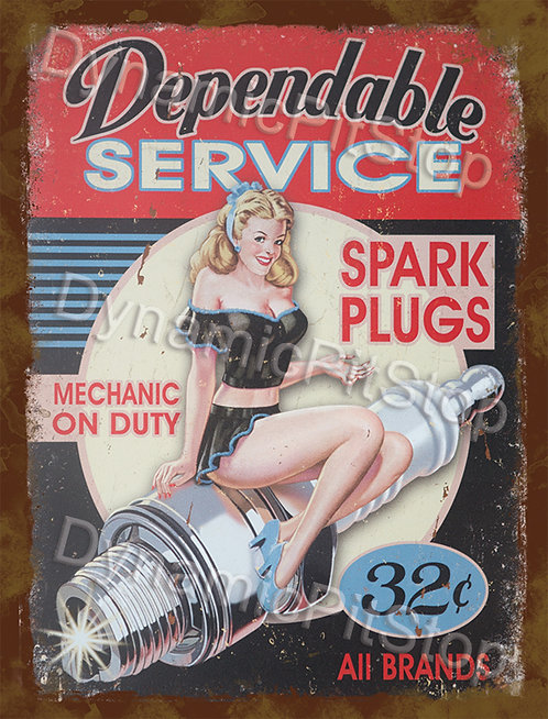 30x40cm Dependable Service Rustic Decal or Tin Sign