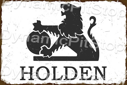 60x40cm Holden Logo Badge Rustic Decal or Tin Sign