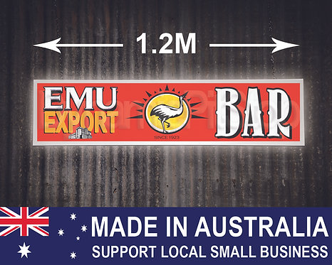 Large Illuminated Emu Export Bar Sign
