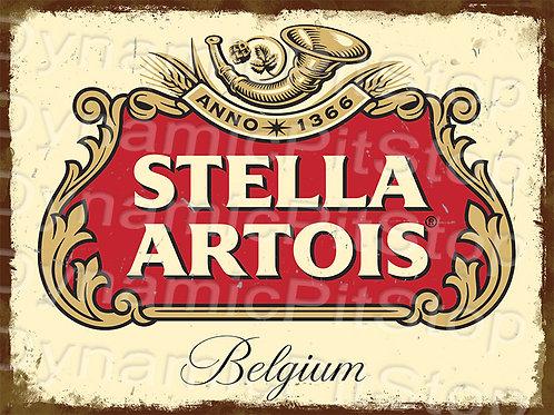 40x30cm Stella Artois Rustic Decal or Tin Sign