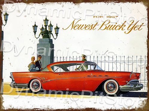 40x30cm 1957 Buick Rustic Decal or Tin Sign