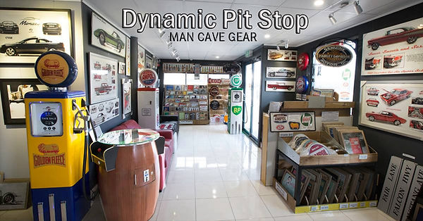 man cave gift shop perth western australia tin signs, garage lights, vintage cars, fuel petrol bowsers