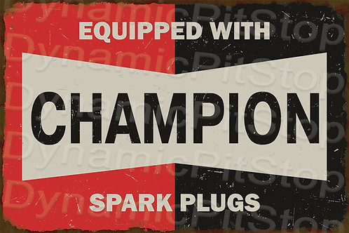 60x40cm Champion Spark Plugs Rustic Decal or Tin Sign