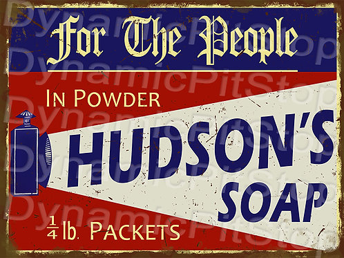 40x30cm Hudson's Soap Decal or Tin Sign