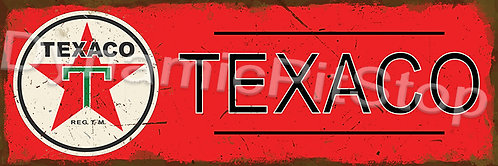 60x20cm Texaco Logo Rustic Decal or Tin Sign