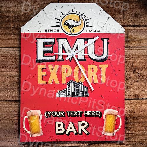 30cm x 40cm Emu Export Custom/ Personalised Rustic Clock